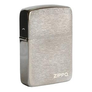 ZIPPO 1941復刻版 ブラックアイス 24485 ロゴ 1941年 復刻モデル ジッポー オイルライター