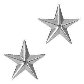 Rothco ピンバッジ 米軍階級章 将官級 2個セット [ シルバー ] ピンズ ミリタリーバッジ ミリタリーバッチ 記章 徽章 襟章 肩章 胸章 袖章 臂章 ランクバッジ