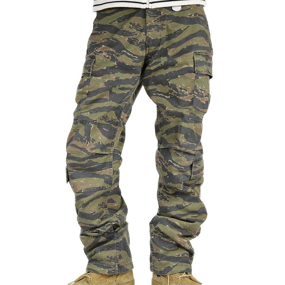Rothco カーゴパンツ ビンテージ調 パラトルーパー 迷彩 [ タイガーストライプカモ / XLサイズ ] ストーン   ミリタリーパンツ TDUパンツ BDUパンツ メンズボトム