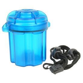 電池ケース 18650電池用 6本収納 防水バッテリーケース [ クリアブルー ] LED ウェポンライト 交換用 保管