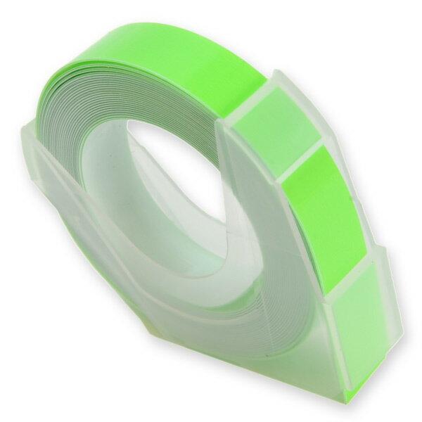 エンボステープ DYMO用 9mmx3m ダイモ [ 蛍光グリーン ] RM900KGR リフィルテープ レイチェル