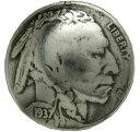 コインコンチョ インディアンヘッド 5セント レプリカ [ 通常ネジ ] | ハンドメイド 長財布 ロングウォレット 革製品 レザークラフト 材料 資材 パーツ