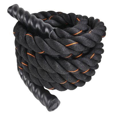 トレーニングロープ9m縄ブラック×オレンジ