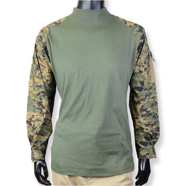 Rothco コンバットシャツ 90005 ウッドランドカモ [ Lサイズ ]