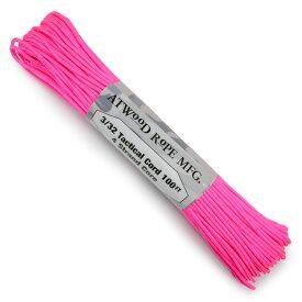ATWOOD ROPE タクティカルコード 30m ホットピンク アトウッドロープ 紐 靴ひも 靴紐 hot pink