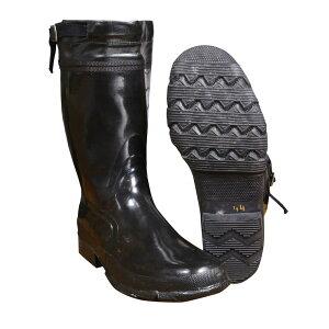 スウェーデン軍放出品 ラバーブーツ 長靴 レインブーツ 調整ベルト搭載 サイズ44 レインシューズ ミリタリー 装備品 アウトドア 軍物 払下げ品 ゴム靴 雨靴 ゴム長靴 ながぐつ ミリタリーサ