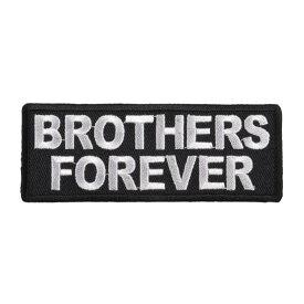 ミリタリーパッチ BROTHERS FOREVER アイロンシート付き ミリタリーワッペン アップリケ 記章 徽章 襟章 肩章 胸章 階級章