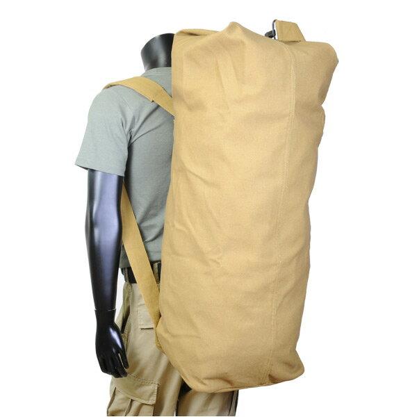 Rothco ダッフルバッグ GIスタイル ダブルストラップ 帆布 [ コヨーテ ] 3426 | ミリタリー バックパック かばん カジュアルバッグ カバン 鞄