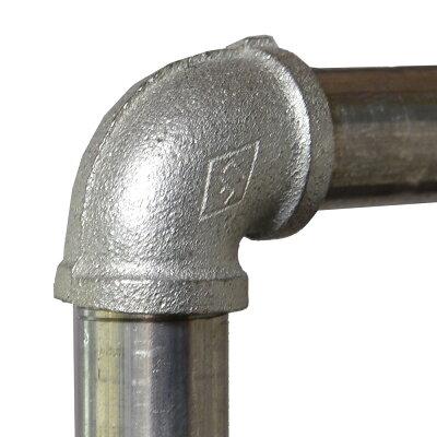 組み立て式水道管ハンガーラックキャスター付き[小]インテリア収納衣装かけ可動式キャスターパイプ金属