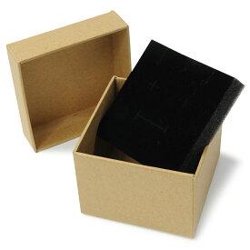 ギフトボックス 貼り箱 8×8×6cm アクセサリーケース [ ブラウン / 1個 ] プレゼントボックス ジュエリーBOX 厚紙 スポンジ付き ラッピング パッケージ 無地 収納