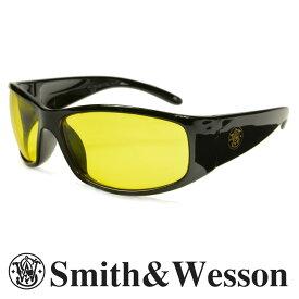 スミス&ウエッソン サングラス エリート イエロー S&W   スミス&ウェッソン メンズ スポーツ 紫外線カット UVカット グラサン 運転 ドライブ バイク ツーリング 曇り止め アンバー 黄色