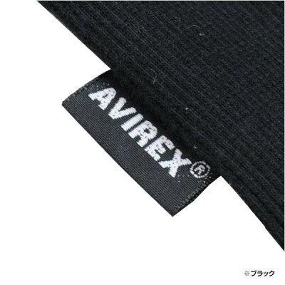 AVIREX5分袖Tシャツ無地デイリーUネックワッフル