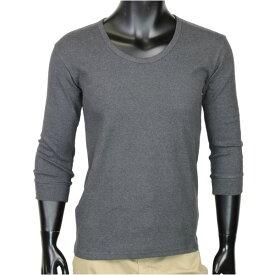 AVIREX 7分袖Tシャツ 無地 デイリー Uネック [ チャコールグレー / Lサイズ ] アヴィレックス アビレックス 6143509 DAILY ミリタリーシャツ 7分袖シャツ ロングTシャツ