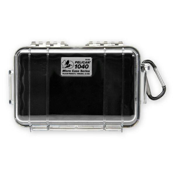 PELICAN マイクロケース 1040 [ クリア / ブラック ] CBK   透明 防水ケース 携帯電話 デジカメケース 保護ケース ダイビング プラスチックボックス