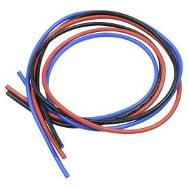 EAGLE RACING シリコン銀コード 3本セット 各60cm [ 16G ] イーグルレーシング イーグル模型 配線 カスタムパーツ ワイヤー コネクター ハーネス