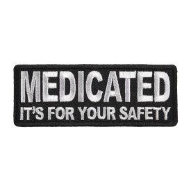 ミリタリーパッチ MEDICATED IT'S FOR YOUR SAFETY アイロンシート付 ミリタリーワッペン アップリケ 記章 徽章 襟章 肩章 胸章 階級章