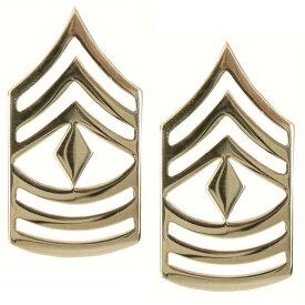 Rothco ピンバッジ 1647 米軍階級章 先任曹長 2個セット ピンズ ミリタリーバッジ ミリタリーバッチ 記章 徽章 襟章 肩章 胸章 袖章 臂章 ランクバッジ
