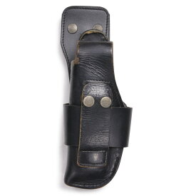 ドイツ警察 レザーホルスター ドロップダウン シグP6 P225適合モデル [ ベルトループパーツ固定型/左利き用 ] 実物 ポリスグッズ SIG ワルサー ピストルホルスター 革製
