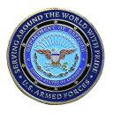 チャレンジコイン 紋章 アメリカ五軍 国防総省 記念メダル Challenge Coin 記念コイン 米軍 ARMY AIRBORNE NAVY MARIN…