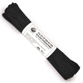 ROTHCO パラコード タイプ3 ブラック 30m [ 30m ] ロスコ 550パラコード パラシュートコード ロープ 綱 靴紐 靴ひも シューレース
