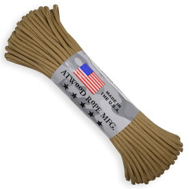 ATWOOD ROPE 550パラコード タイプ3 タン アトウッドロープ ARM Tan 商用 パラシュートコード 綱 靴紐 靴ひも シューレース 防災 550コード ナイロンコード