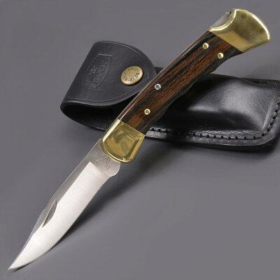 BUCK折りたたみナイフ110FGフィンガーグルーブ付