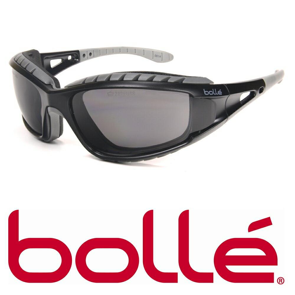 Bolle サングラス トラッカー ブラック ボレー スモークレンズ | メンズ スポーツ 紫外線カット UVカット グラサン 運転 ドライブ バイク ツーリング 曇り止め