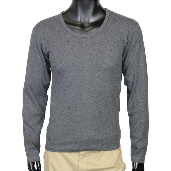 AVIREX Tシャツ 長袖 Uネック 無地 デイリー [ チャコールグレー / Lサイズ ] ロングTシャツ ロンT 長そでアヴィレックス アビレックス 6123207 DAILY ミリタリーシャツ 長袖シャツ