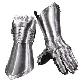 ガントレット ゴシック式 甲冑籠手 中世防具 革手袋付 ゲットドレスフォーバトル GET DRESSED FOR BATTLE 防護