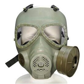 フルフェイスガード 送風ファン付 ガスマスク風 [ オリーブドラブ ] フルフェイス保護マスク 保護面