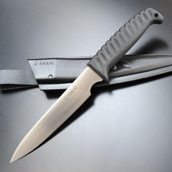 Gサカイ クッキングナイフ 直刃 G-SAKAI G・SAKAI 登山 魚釣り フィッシングナイフ キャンプナイフ アウトドアナイフ ハンティングナイフ 狩猟 サバイバルナイフ シースナイフ