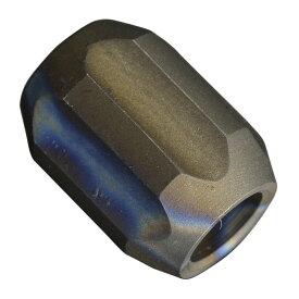 チタンビーズ 円柱型 6カット ナイフストラップ用 パーツ [ アンティーク ] チタニウム 直径約13mm Spacer 軽量 耐食性 耐久性 手芸用品 ブレスレット アクセサリー