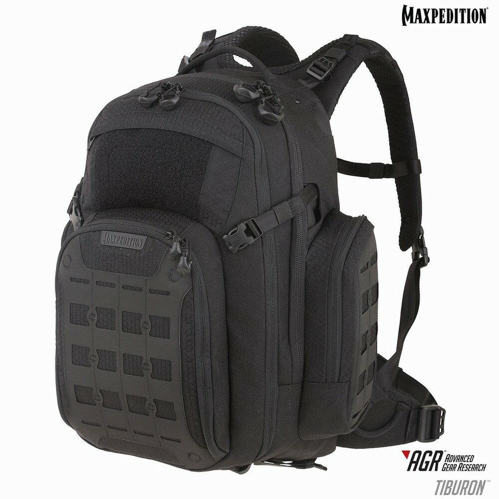 マックスペディション Tiburon バックパック 34L [ ブラック ] MAXPEDITION ティブロン ハイドレーション リュックサック ナップザック デイパック カバン かばん 鞄 ミリタリー ミリタリーグッズ サバゲー装備 タブレット PC オーガナイザー AGRジッパータグ