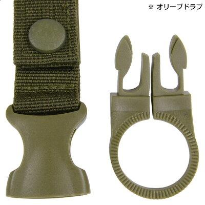 ペットボトルキーパーMOLLEベルクロ着脱式ミリタリー[ブラック]ボトルホルダーベルトスナップボタンリリースバックル携帯