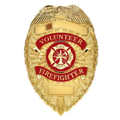 ロスコ消防バッジFIREFIGHTERデラックス