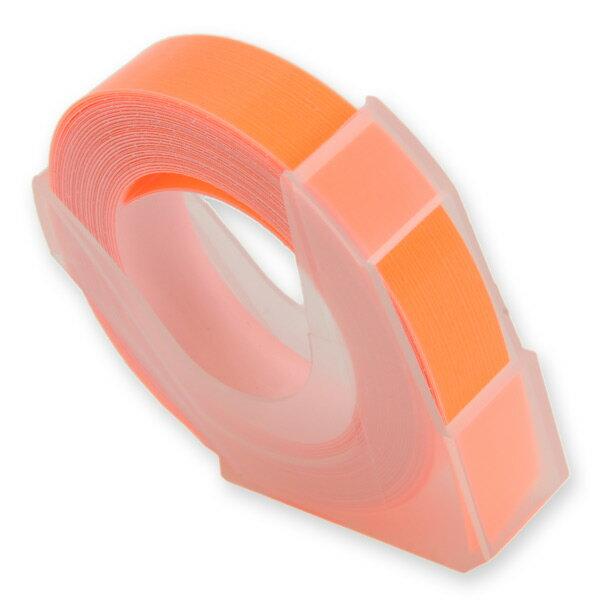 エンボステープ DYMO用 9mmx3m ダイモ [ 蛍光オレンジ ] RM900KOR リフィルテープ レイチェル