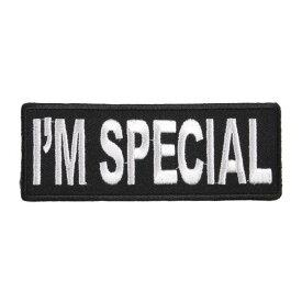 ミリタリーパッチ I'M SPECIAL アイロンシート付 ミリタリーワッペン アップリケ 記章 徽章 襟章 肩章 胸章 階級章