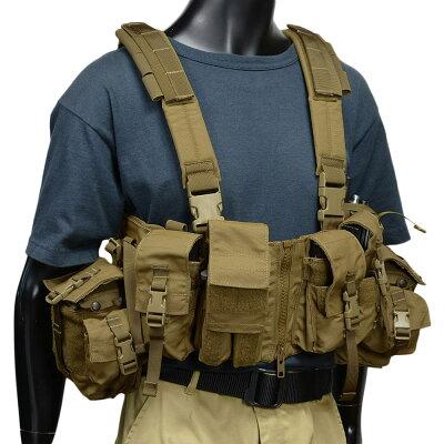 LBTロードベアリングチェストリグM4/M16用フロントジッパー付き1961A-R[コヨーテブラウン]LondonBridgeTradingチェストベスト5.56mm装備LoadBearingChestVestw/ZipperRigサバゲー装備軍装備ミリタリー