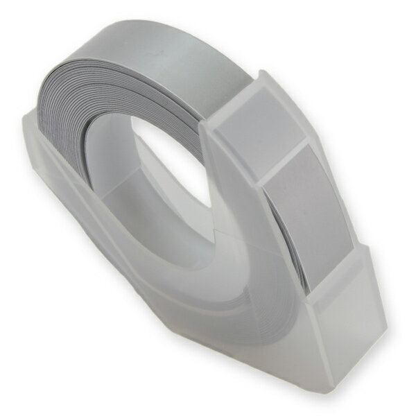 エンボステープ DYMO用 9mmx3m ダイモ [ シルバー ] RM900SV リフィルテープ レイチェル