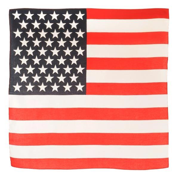 ROTHCO バンダナ アメリカ 星条旗 [ レッド&ホワイト / Lサイズ ] ロスコ Rothco ミリタリーバンダナ ハンカチ スカーフ