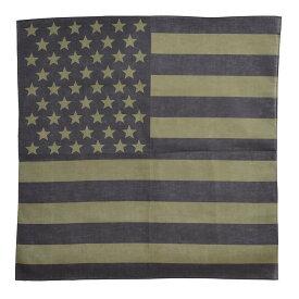 ROTHCO バンダナ アメリカ 星条旗 [ ブラック&オリーブドラブ / Sサイズ ] ロスコ Rothco ミリタリーバンダナ ハンカチ スカーフ