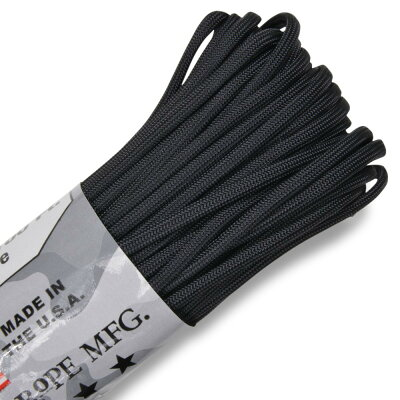 ATWOODROPE550パラコードタイプ3ブラックアトウッドロープARMBlack黒パラシュートコード綱靴紐靴ひもシューレース防災