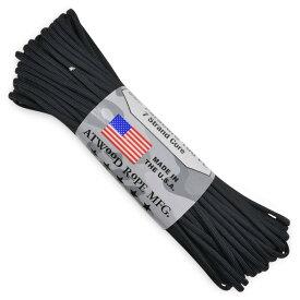 ATWOOD ROPE 550パラコード タイプ3 ブラック アトウッドロープ ARM Black 黒 パラシュートコード 綱 靴紐 靴ひも シューレース 防災