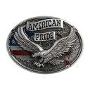 ベルトバックル イーグル 星条旗 AMERICAN PRIDE 1616 [ シルバー ] ベルト用バックル アメリカンバックル USAバック…