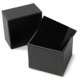 ギフトボックス 貼り箱 5×5×4cm アクセサリーケース [ ブラック / 100個セット ] プレゼントボックス ジュエリーBOX 厚紙 スポンジ付き ラッピング パッケージ 無地 収納 梱包資材 梱包用品 発送資材 荷造り資材 荷造り用品