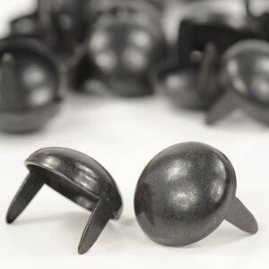 ラウンド型 スタッズ 2爪 直径12mm 高さ11mm [ ブラック / 30個セット ] 革細工 レザークラフト材料 自作 ハンドメイド ハンドクラフト レザークラフト資材