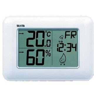 附带TANITA(百利达)钟表的数码温湿度计TT-530-WH(白)