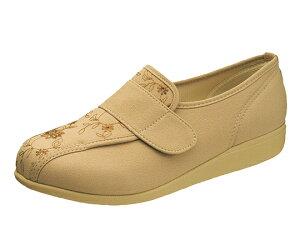 リハビリシューズ 介護靴 快歩主義 L052 ベージュ 24.5cm KS22352 4963507449788