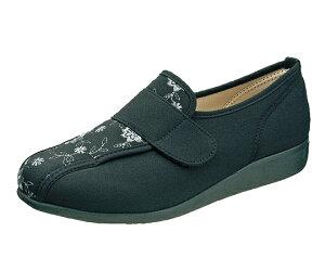 リハビリシューズ 介護靴 快歩主義 L052 ブラック 23.0cm KS22353 4963507449832