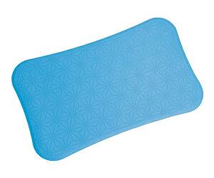 浴室内マット すべり止めマットV ブルー 360×600×3mm 4904892906012